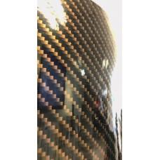 طرح کربن مشکی طلایی براق