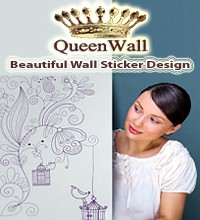 queenwall sticker design